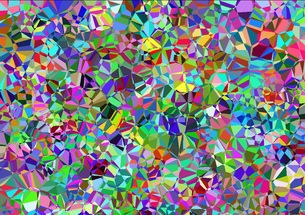 second nearest colour voronoi